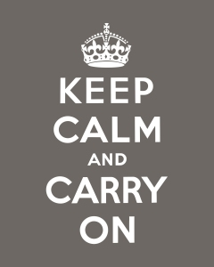 8x10 keep calm carry on gray